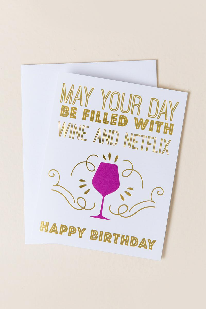 Wine and netflix birthday card francescas wine and netflix birthday card gift cl bookmarktalkfo Images