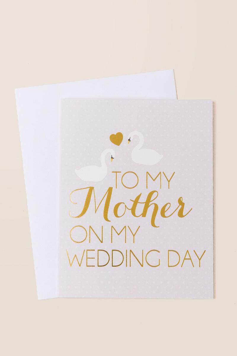 To My Mother On My Wedding Day Card-  gift-cl