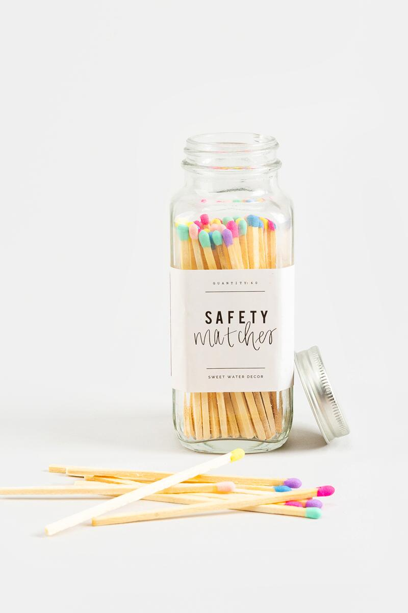 Sweet Water Decor Rainbow Safety Matches