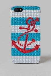 Jeweled Anchor iPhone 5 Case