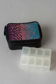 Gradient Rhinestone Pill Box