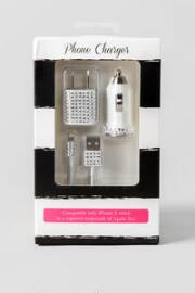 Rhinestone iPhone 5 Charger Set