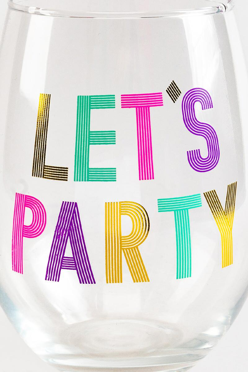 Let's Party Stemless Wine Glass-  nocolor-cl2