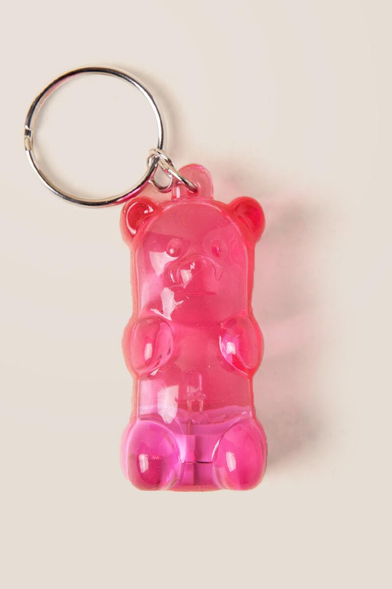Pink Gummy Bear Key Chain
