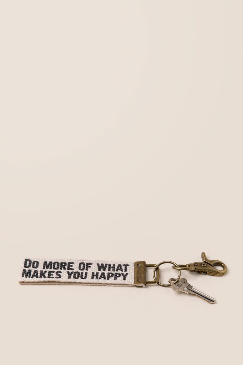 Do More of What Makes You Happy Key Fob-  gift-cl