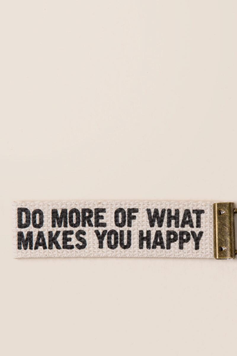 Do More of What Makes You Happy Key Fob-  gift-clalternate