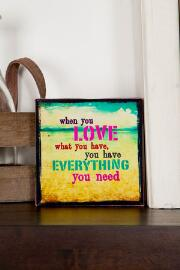 Love What You Have Mini Wall Art