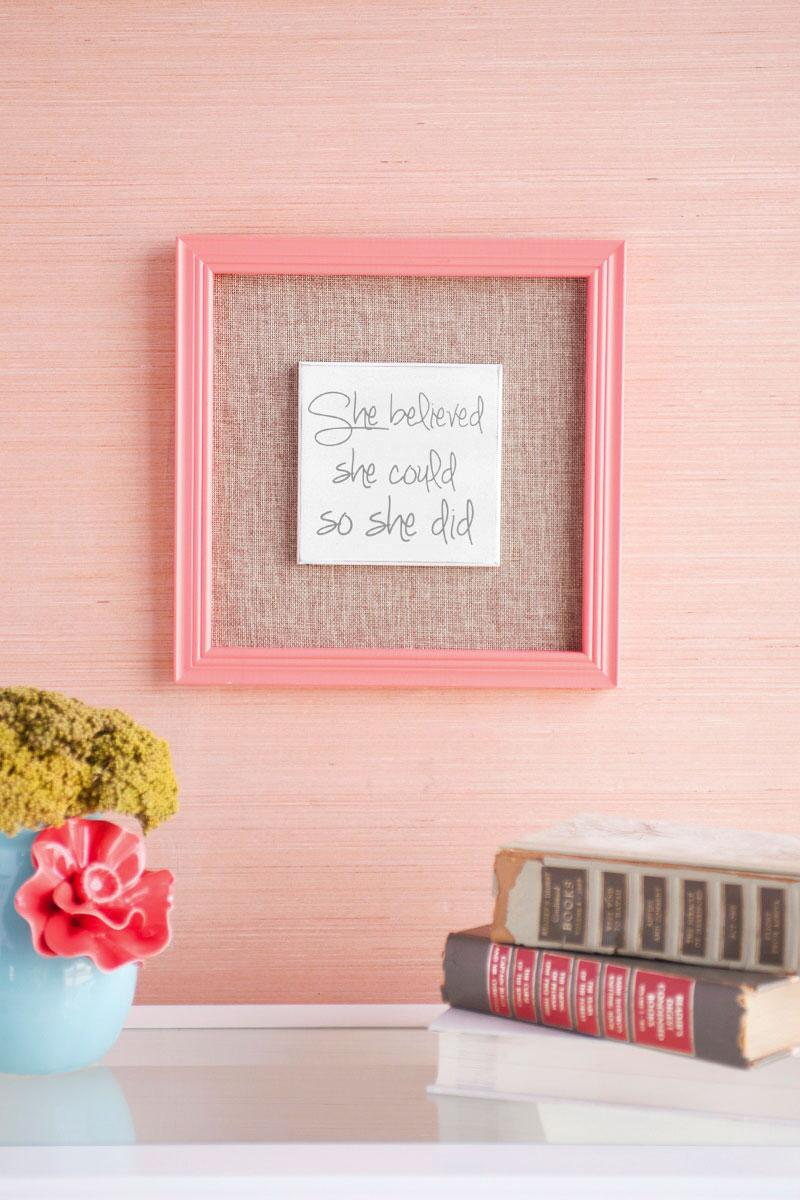 She Believed She Could Burlap Wall Decor-  gift-cl
