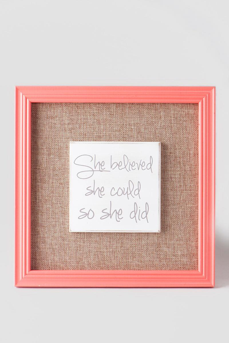 She Believed She Could Burlap Wall Decor-  gift-clalternate
