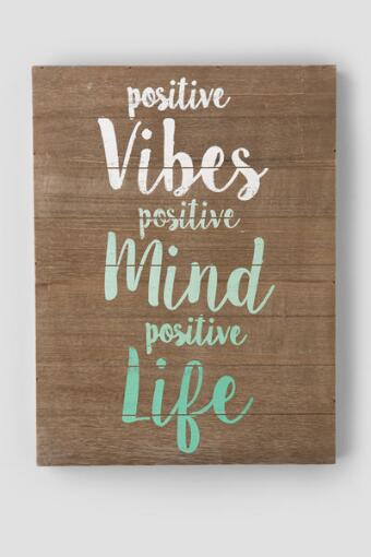 Positive Vibes Wood Wall Decor