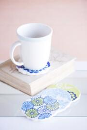 Napa Ceramic Coasters in Blue