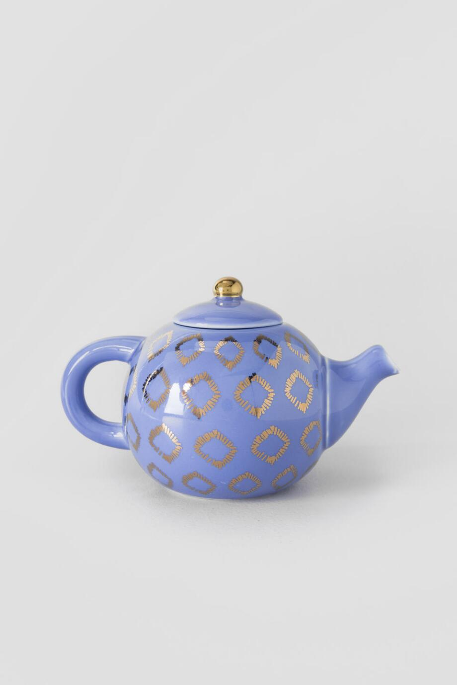 Purple & Gold Tea Pot