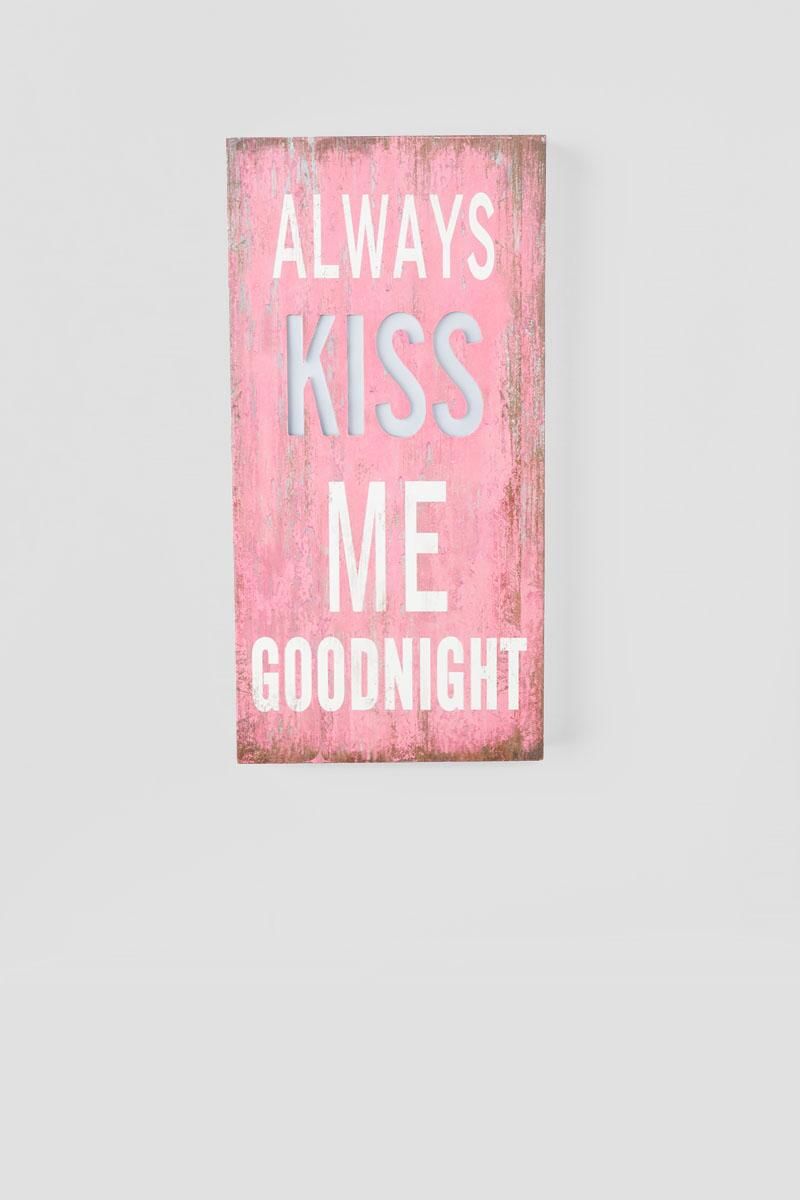 Always Kiss Me Goodnight Light Up Wall Decor-  gift-clalternate