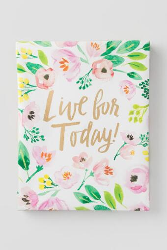 Floral Live For Today Canvas Wall Decor