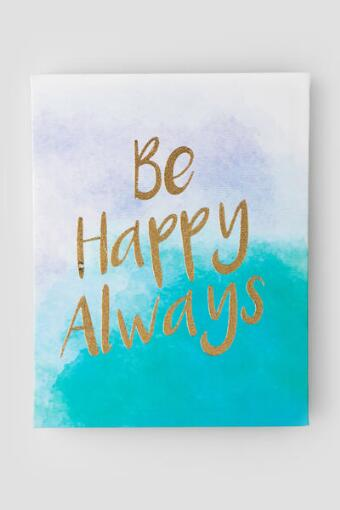 Be Happy Always Ombré Canvas Wall Decor