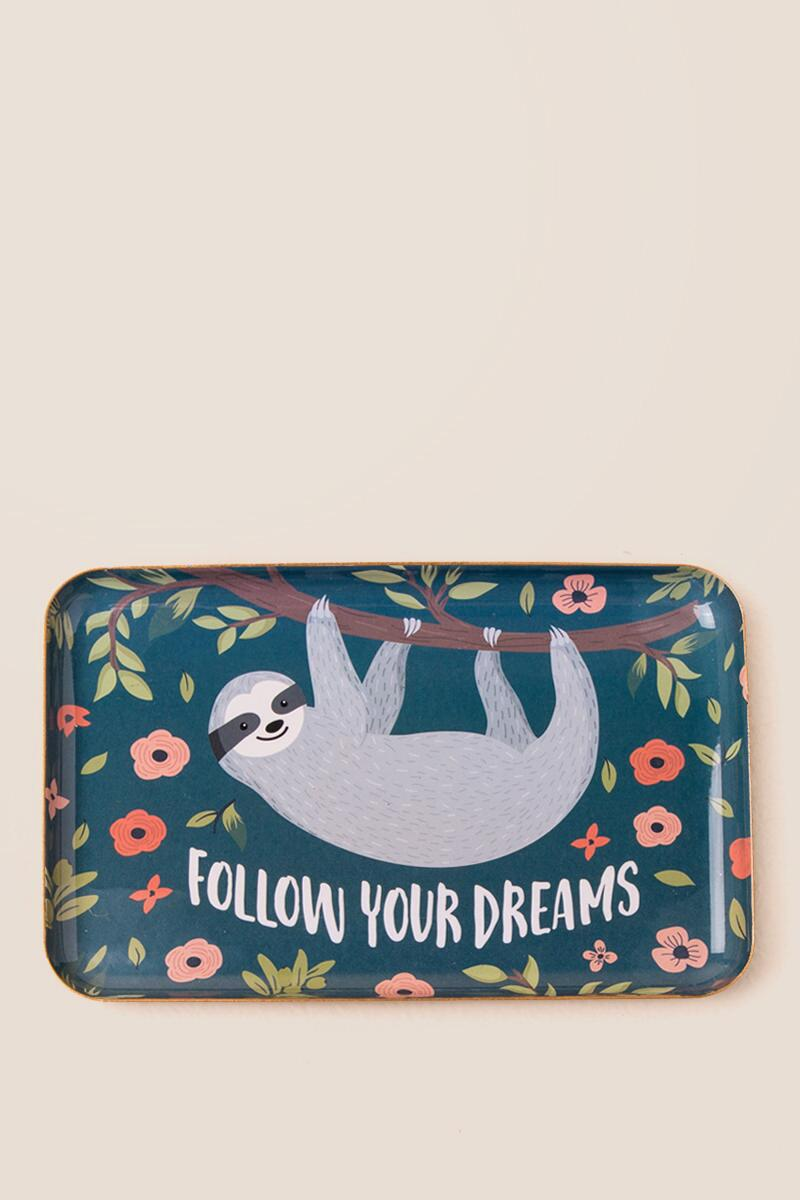 Follow Your Dreams Sloth Trinket Dish