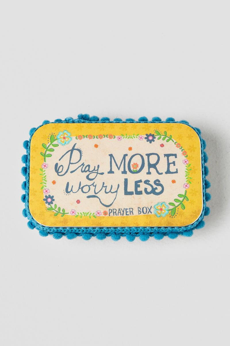 Pray More Worry Less Prayer Box-  gift-cl