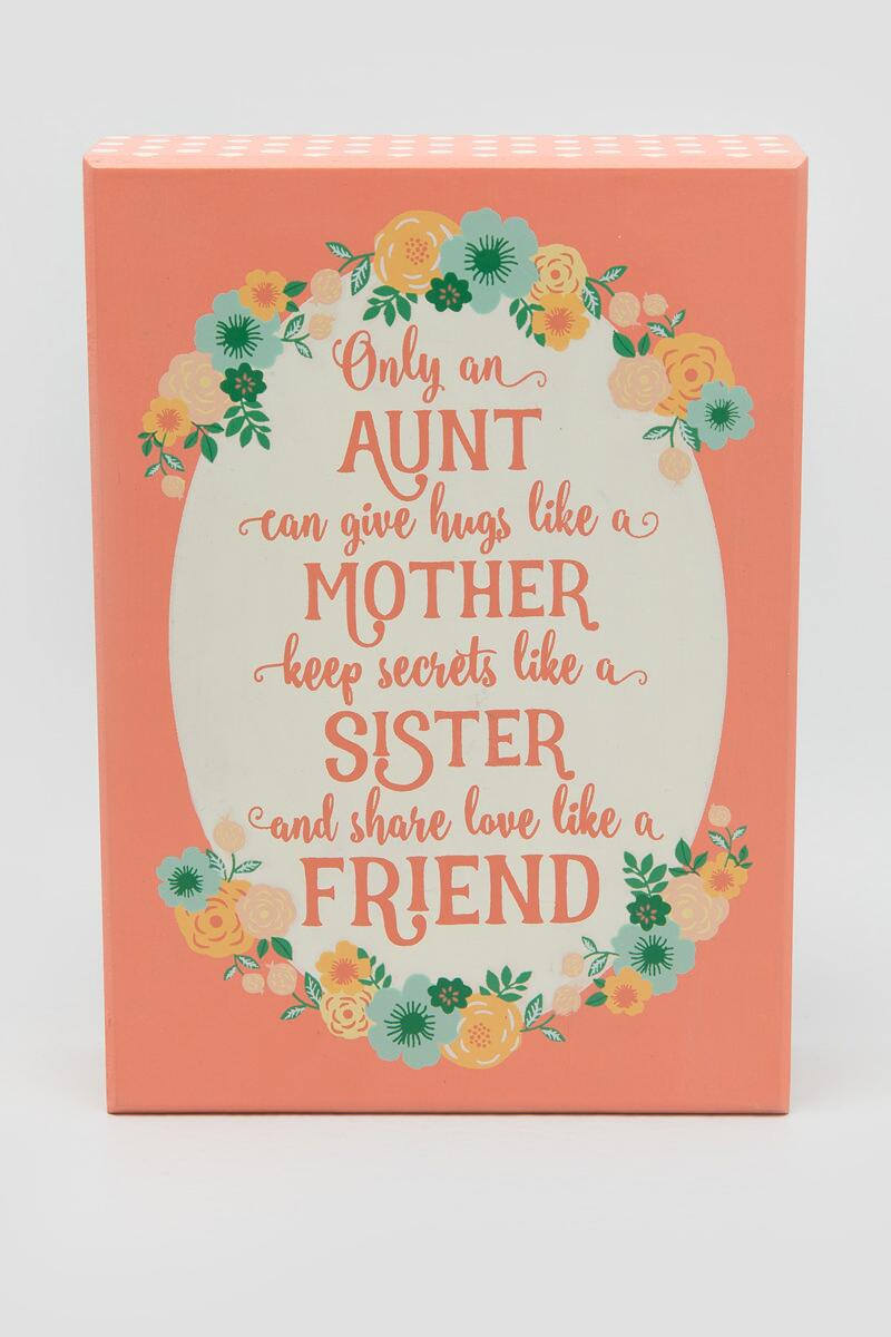 Aunt Floral Box Sign-  gift-cl