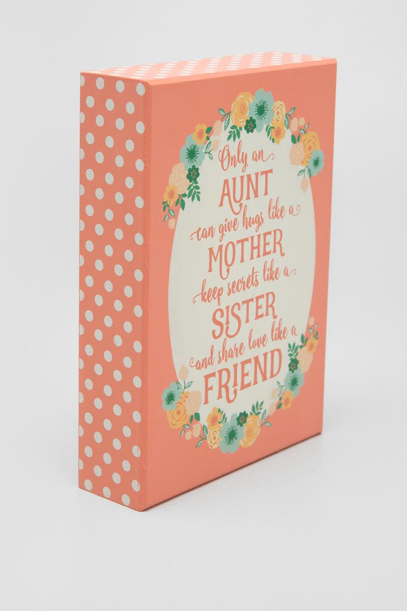 Aunt Floral Box Sign-  gift-clalternate