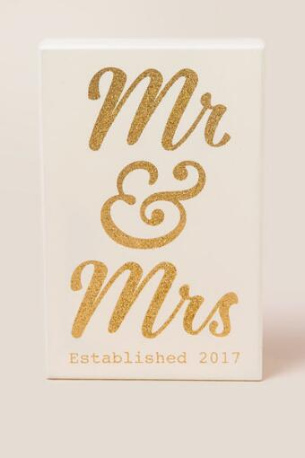 Mr. and Mrs. 2017 Box Sign