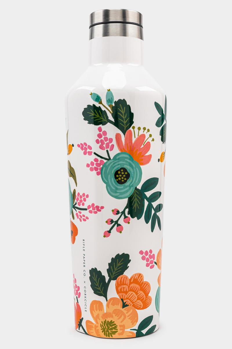CORKCICLE.® Lively Floral Rifle Paper Co. Canteen-  cream-cl