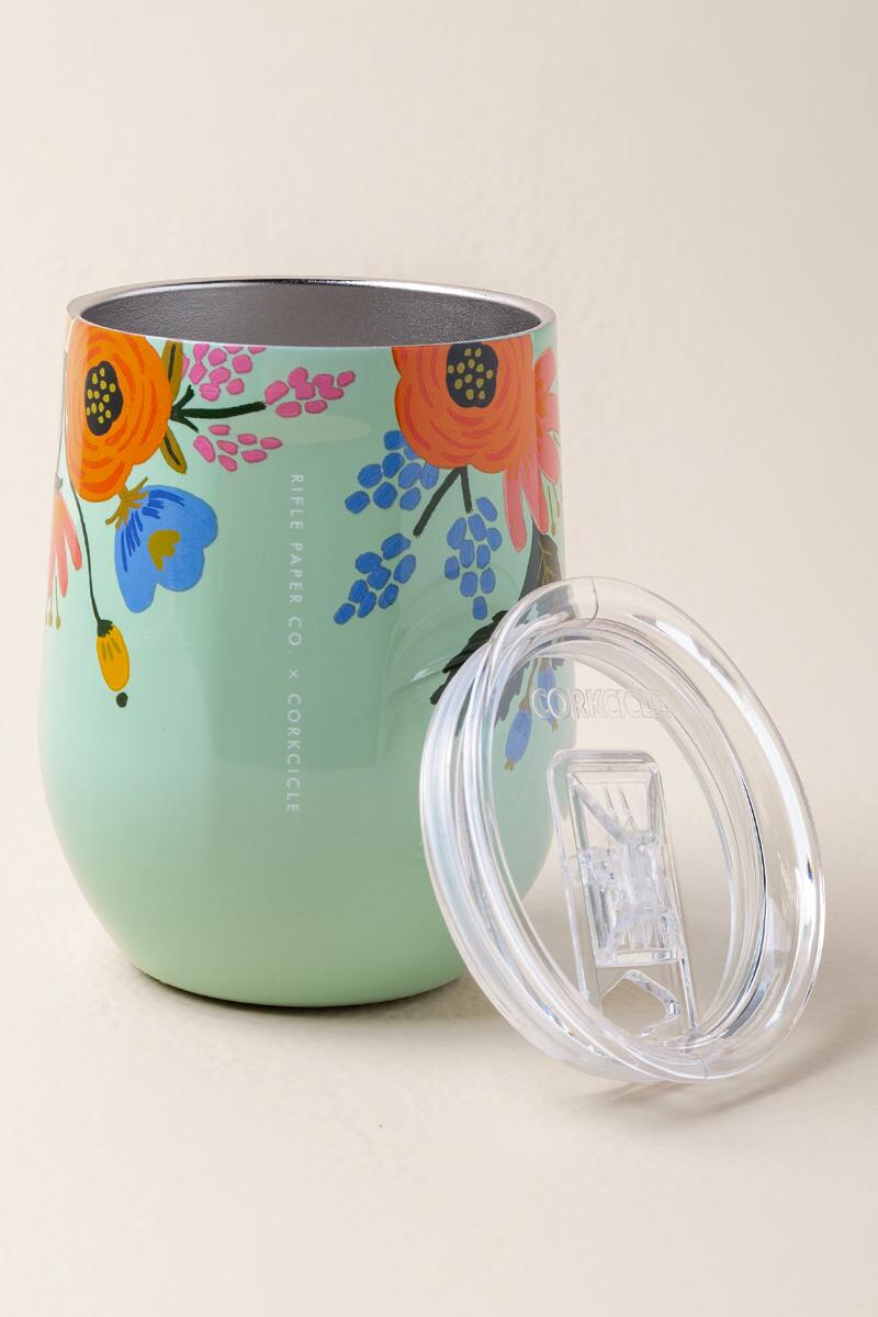 CORKCICLE.® x Rifle Paper Co. Floral Mint Stemless Wine Tumbler