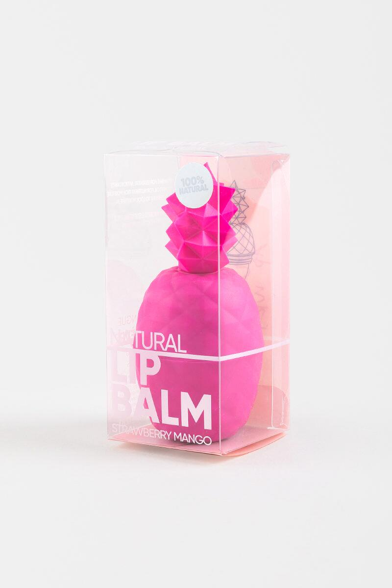 Pineapple Lip Balm in Neon Pink- Pink