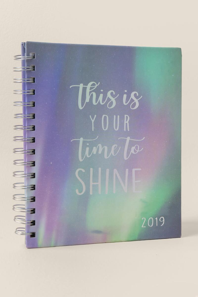 Time To Shine 2019 Planner