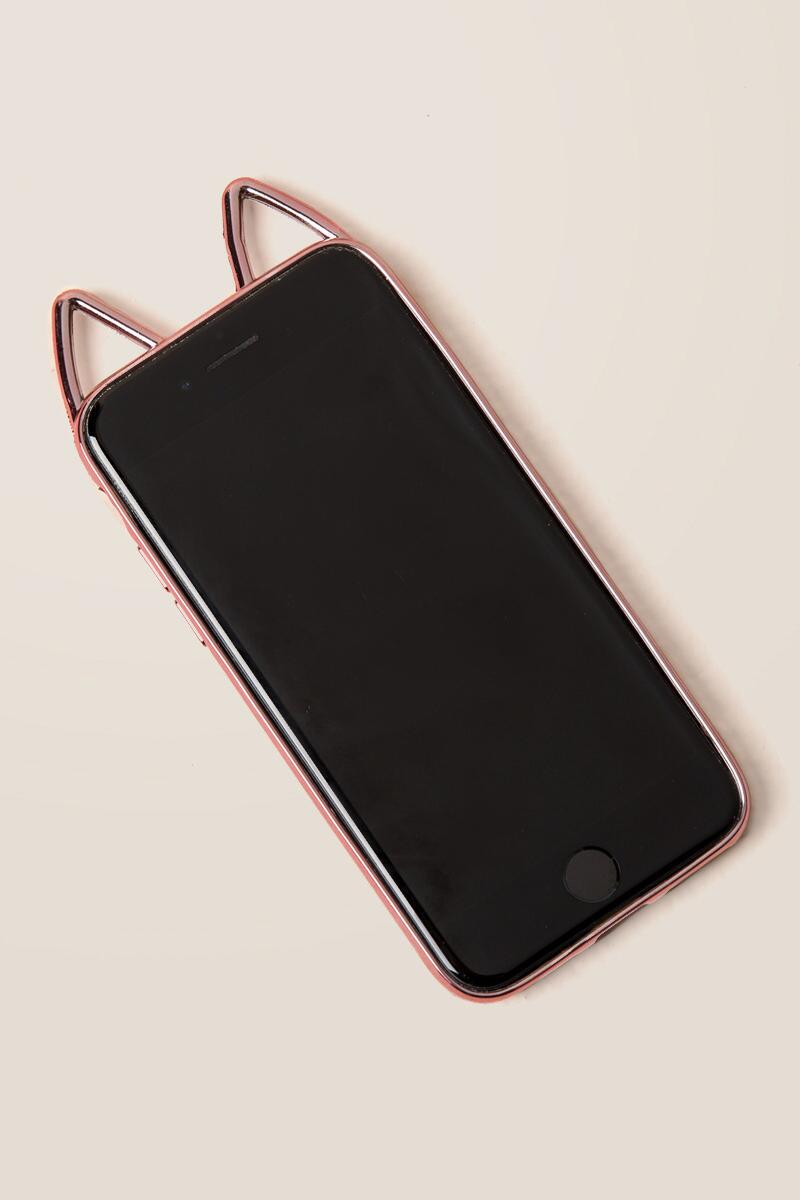Rose Gold Cat Ear iPhone 6/7/8 Case-  gift-cl