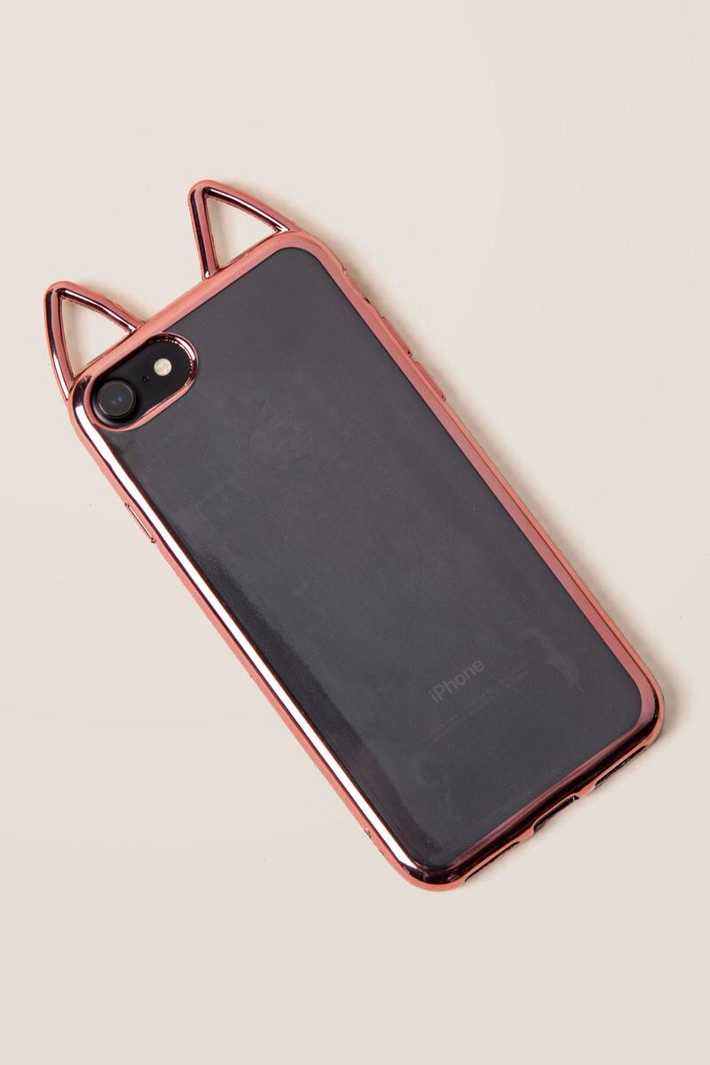 Rose Gold Cat Ear iPhone 6/7/8 Case-  gift-clalternate