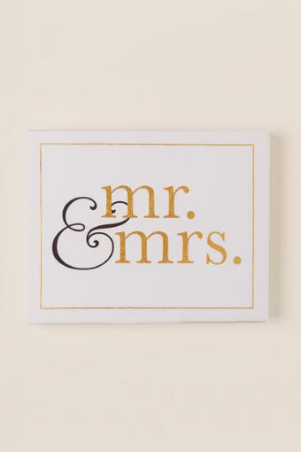 Mr. and Mrs. Glitter Canvas Wall Decor
