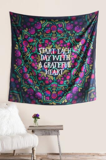 Start Each Day Grateful Heart Tapestry