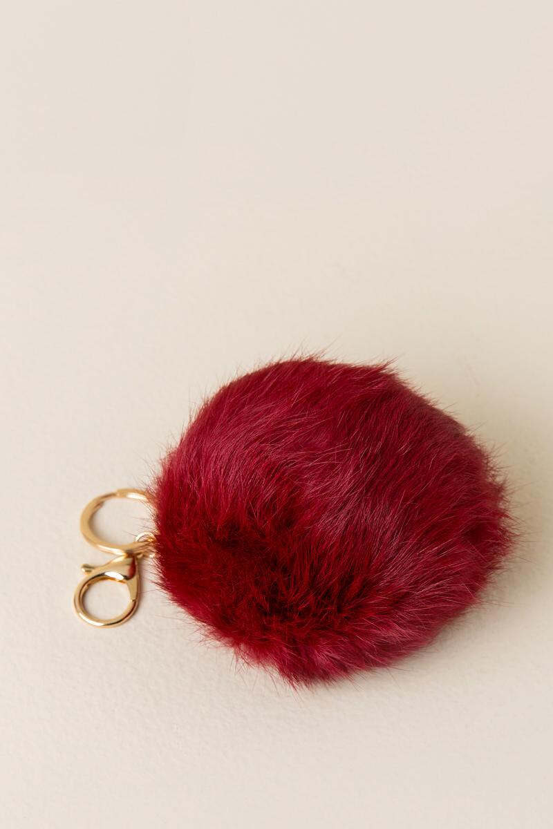 Game Day Crimson Large Puff Keychain