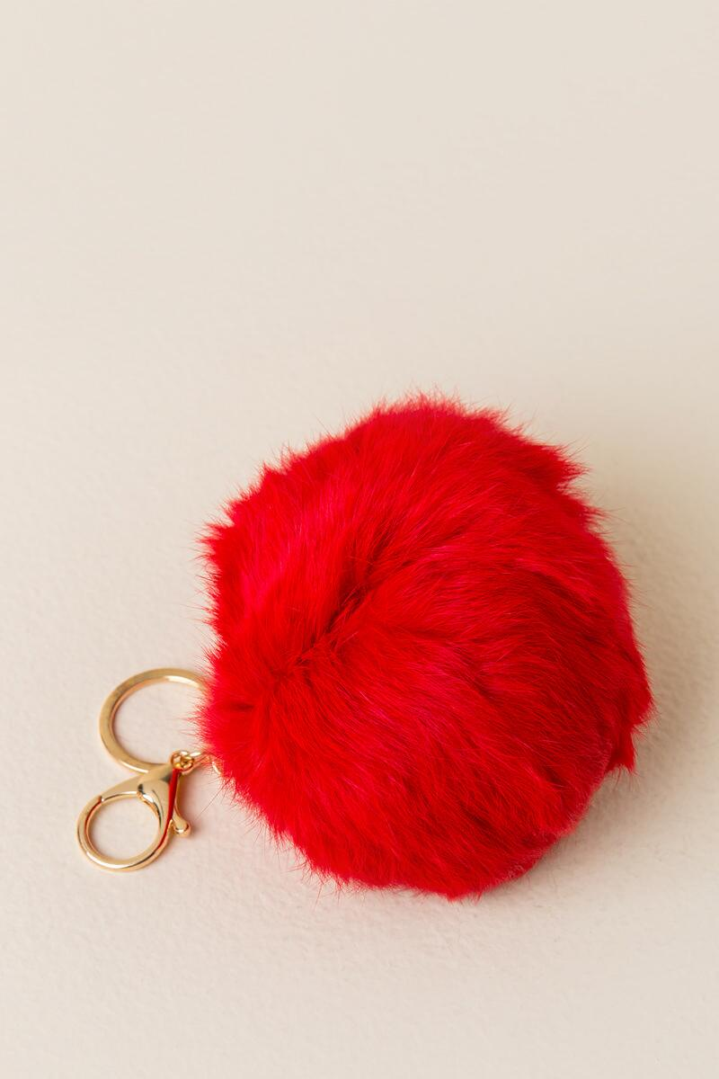 Game Day Red Large Puff Keychain