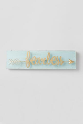 Fearless Arrow Wood Wall Decor