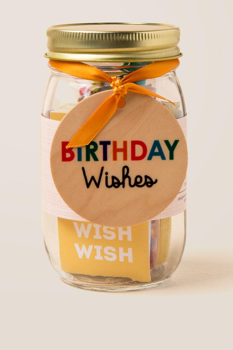 Birthday Wish Jar Gift Cl