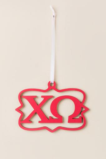 Chi Omega Mini Wood Wall Hanger