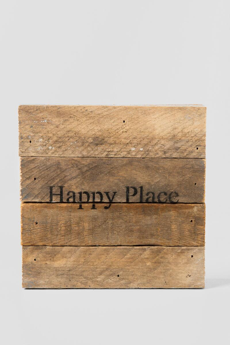 Mini Happy Place Wood Wall Decor-  gift-cl