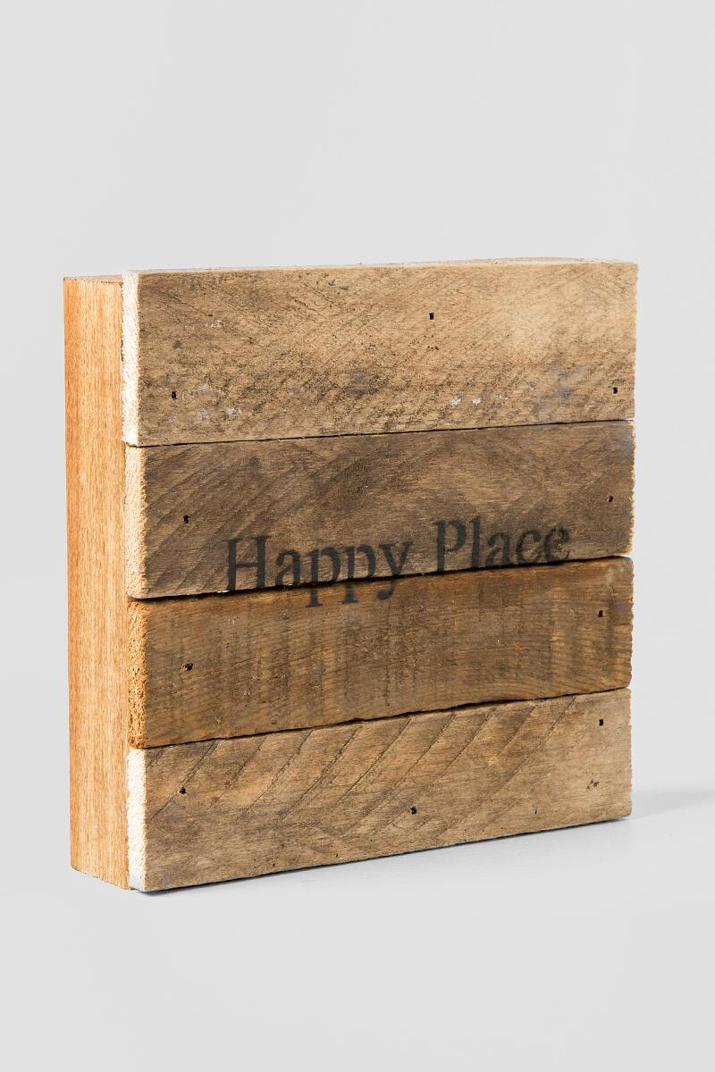 Mini Happy Place Wood Wall Decor-  gift-clalternate