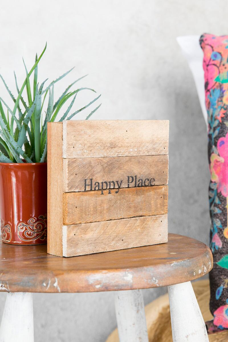 Mini Happy Place Wood Wall Decor-  gift-cllifestyle