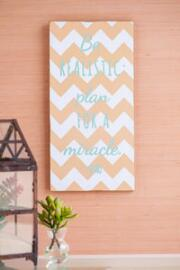 Be Realistic Chevron Wall Art
