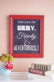 Live Boldly Chalk Wall Art