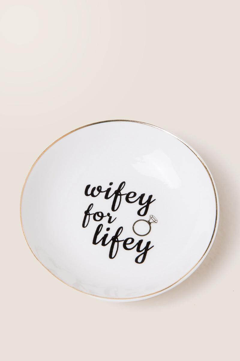Wifey For Lifey Trinket Dish-  gift-cl