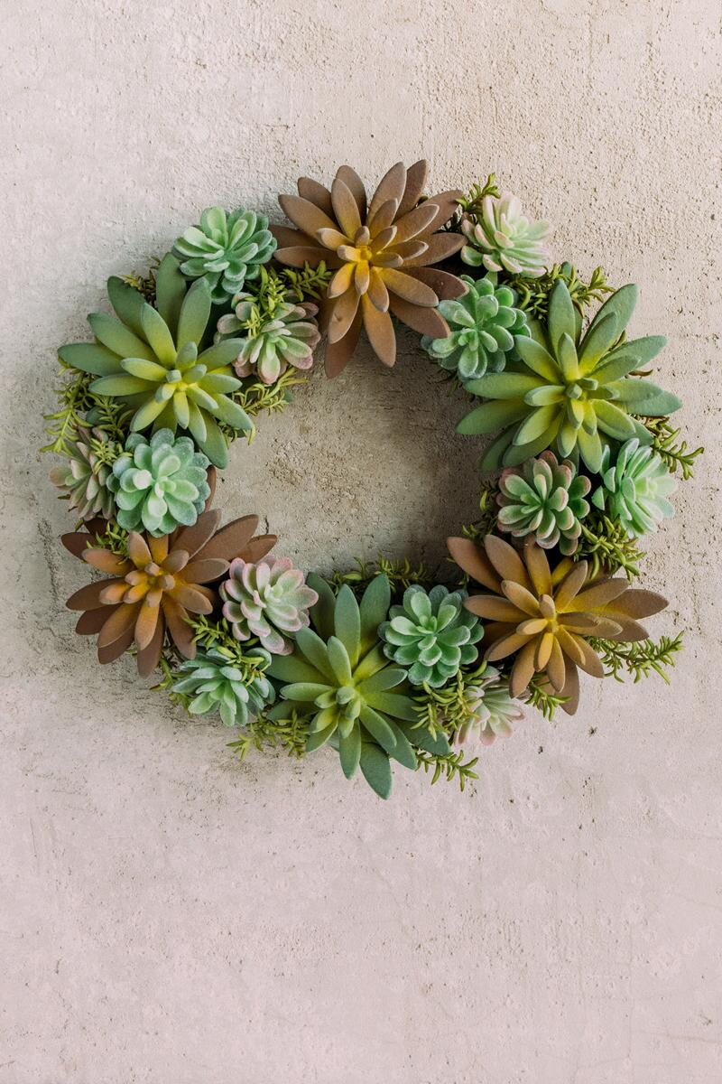 Succulent Wreath-  gift-cl