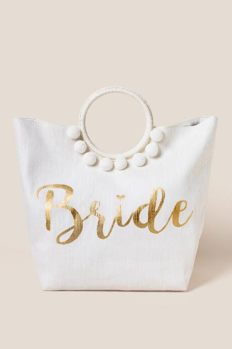 96fee8d072b Bridal Circle Handle Tote