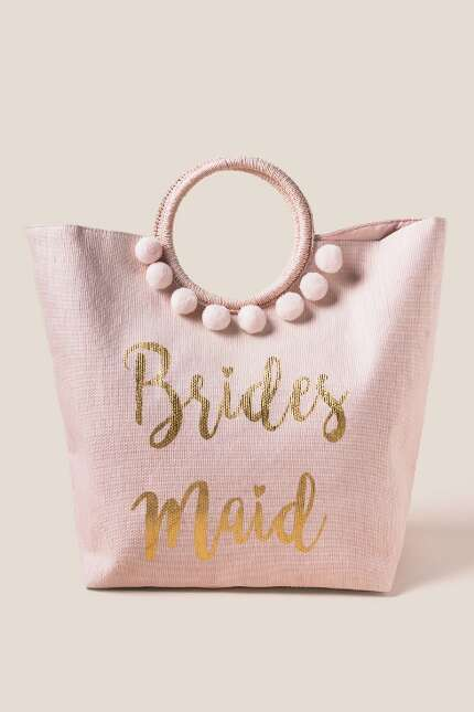 Bridesmaid Circle Handle Tote
