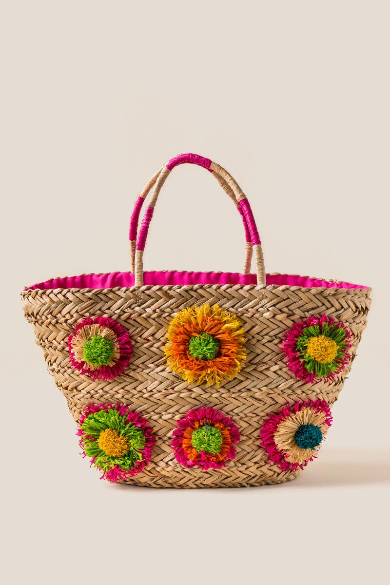 Audrey Straw Tote