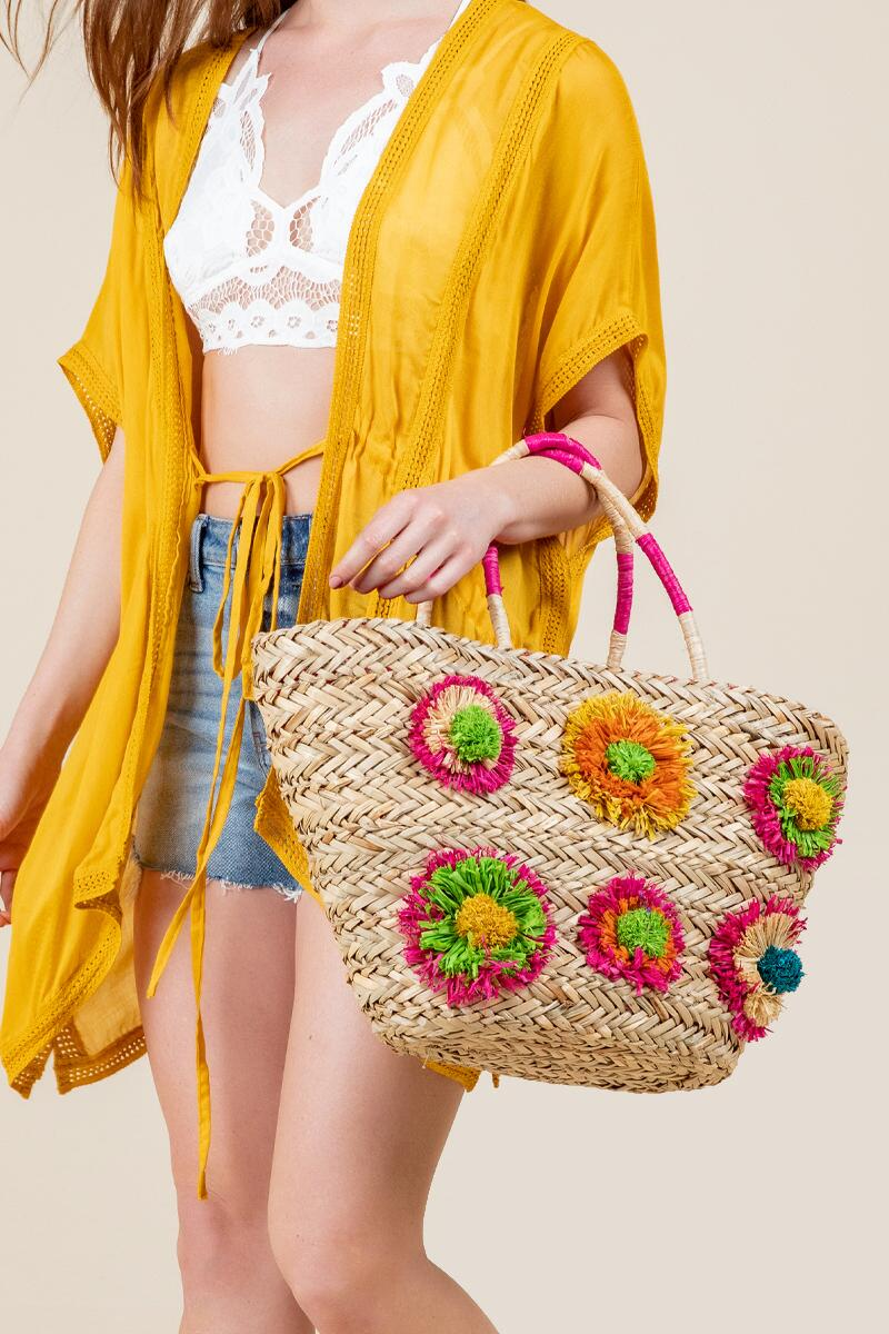 Audrey Straw Tote-  nat-cl4