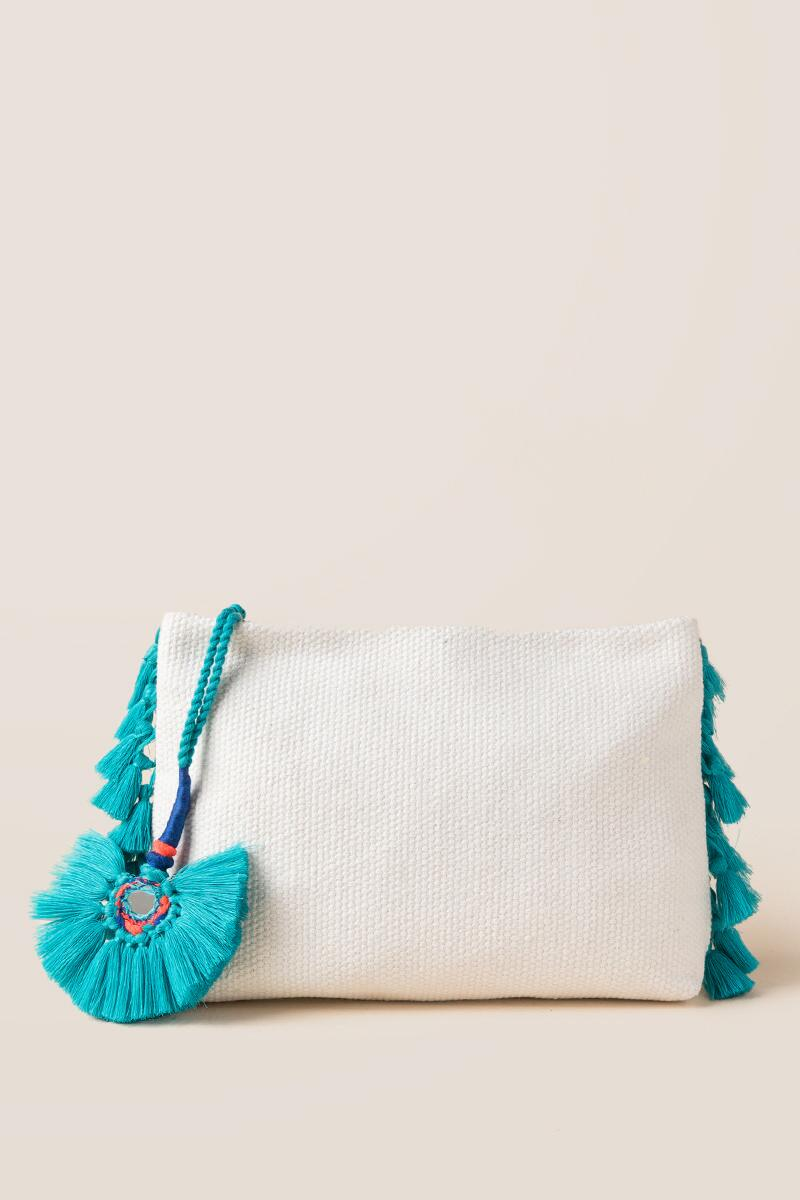 Samba Zip Pouch in Turquoise