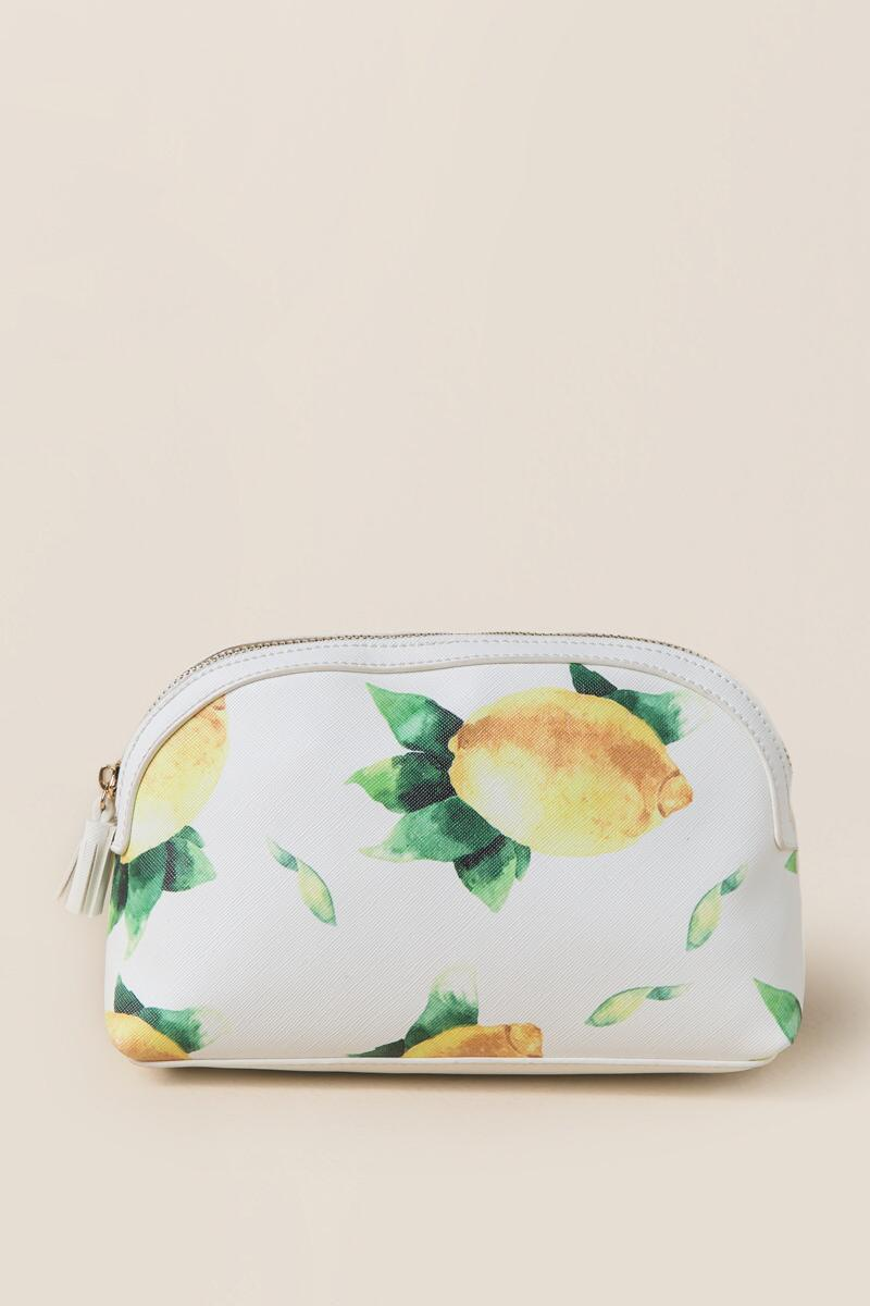 Fresh Lemons Travel Cosmetic Pouch